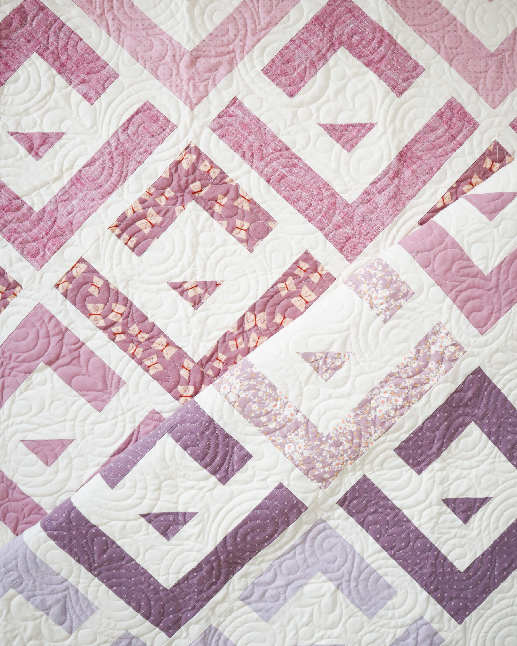 Cabin Valley Quilt - the purple one.