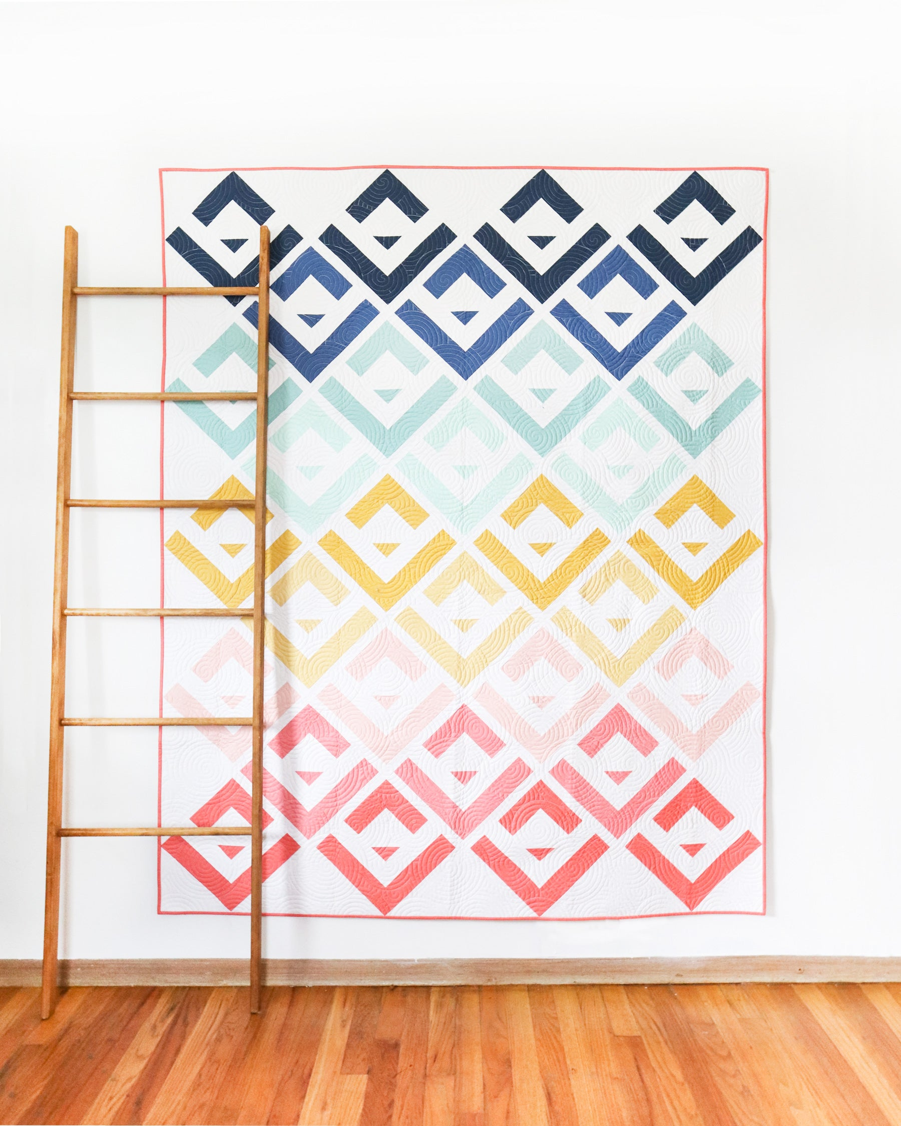Cabin Valley quilt pattern - a modern log cabin quilt by Cotton and Joy