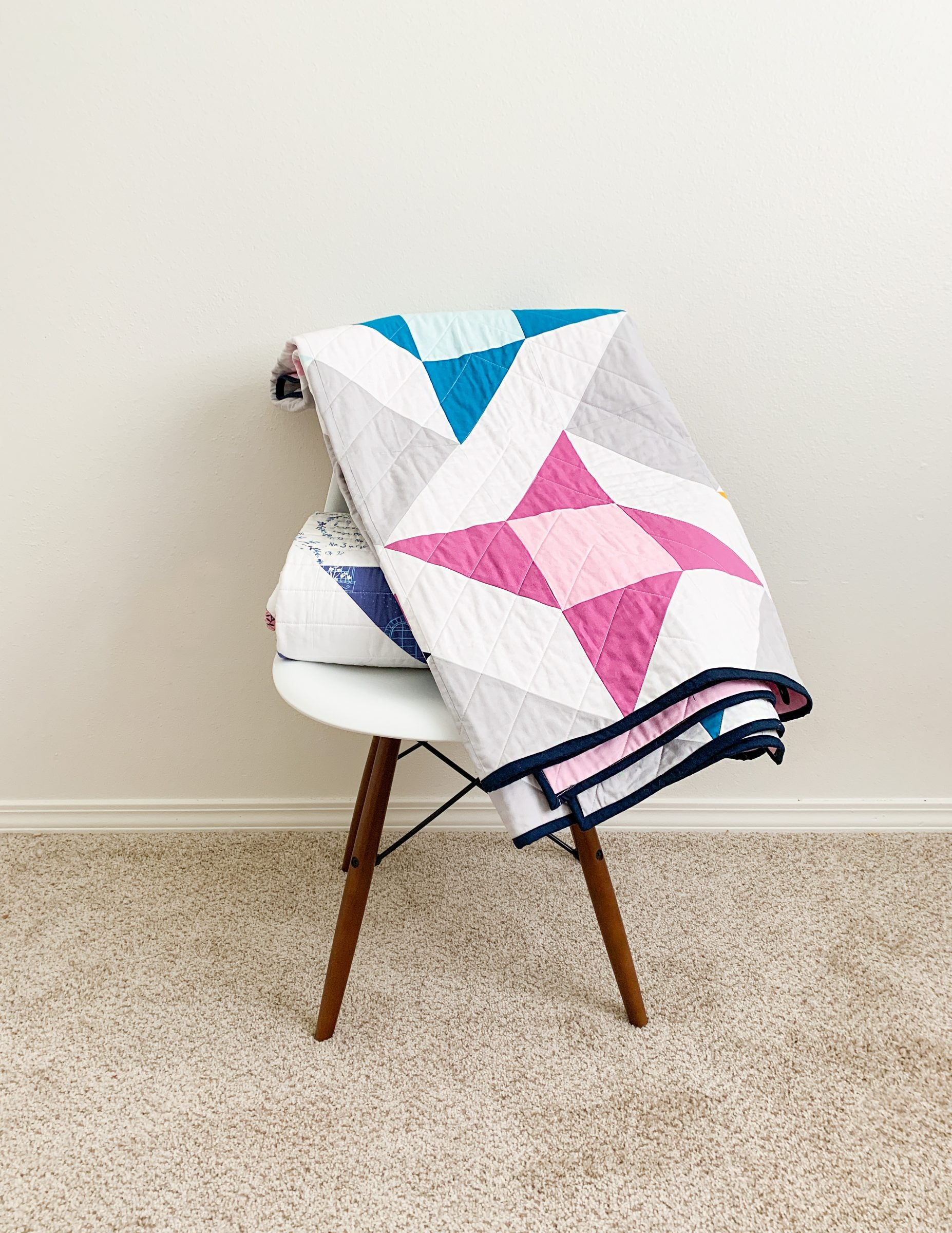 Mighty Stars - A modern take on the classic Friendship star quilt block.
