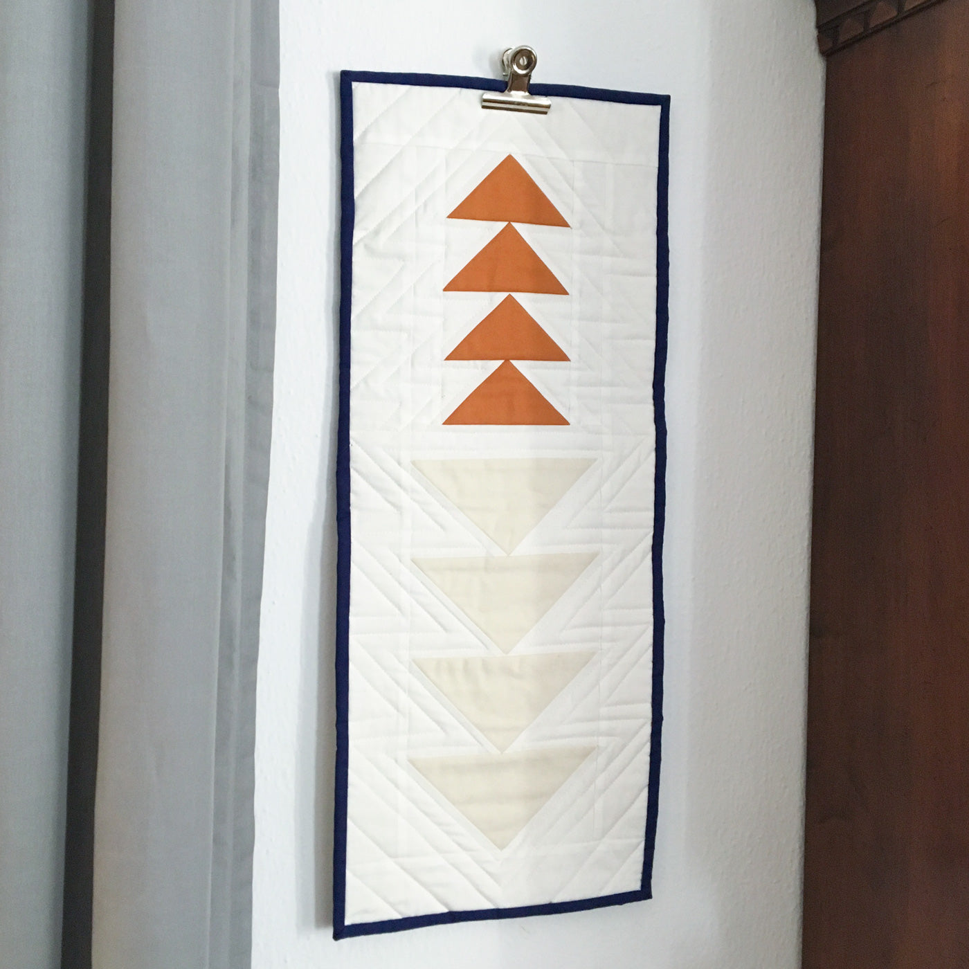 Modern flying geese wall hanging