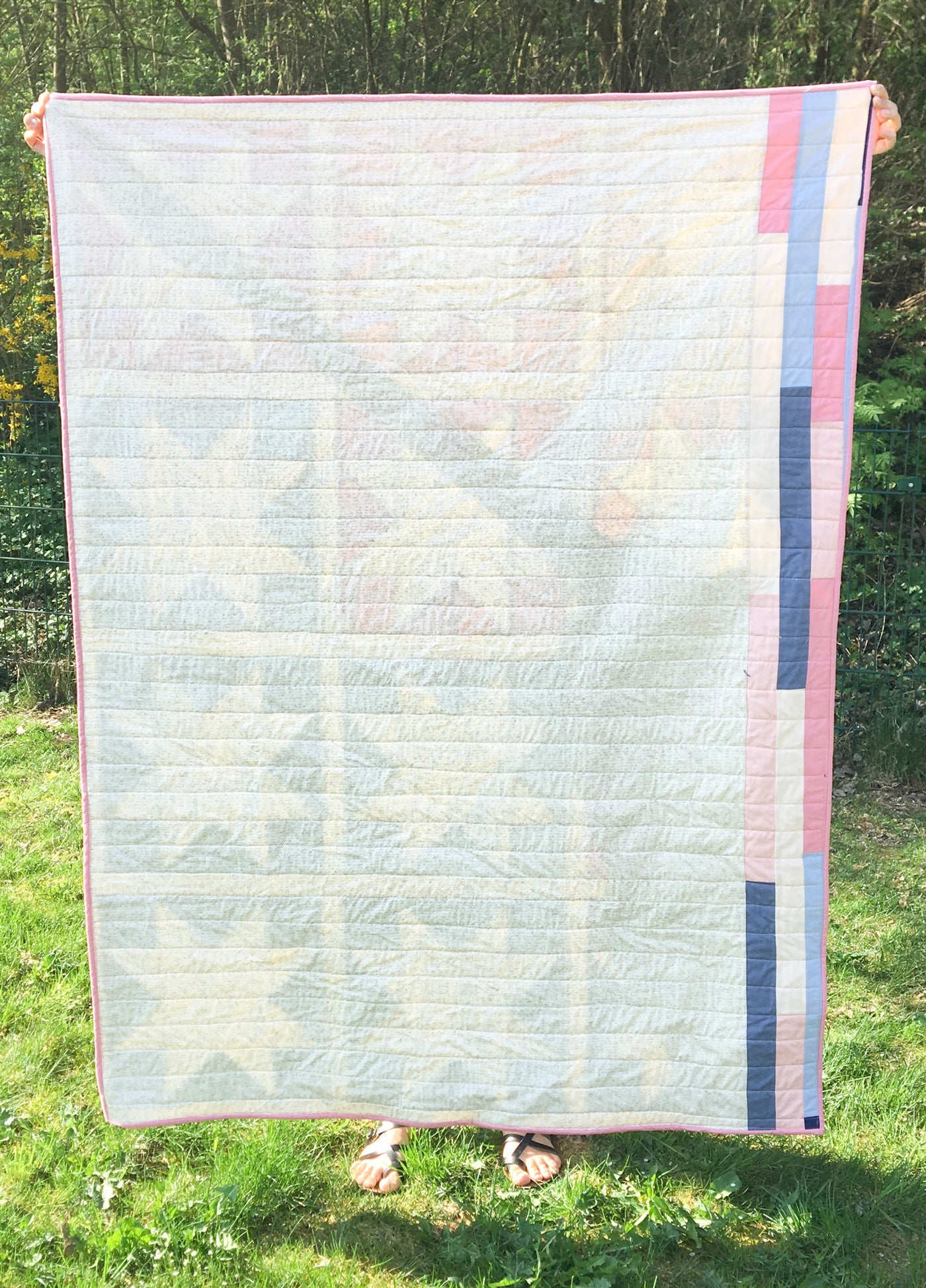 Easy quilt backing idea #quilting