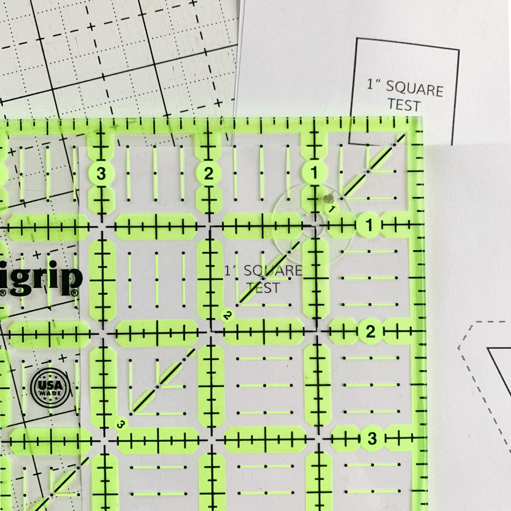 Cutting templates for quilting patterns - making sure it's done right