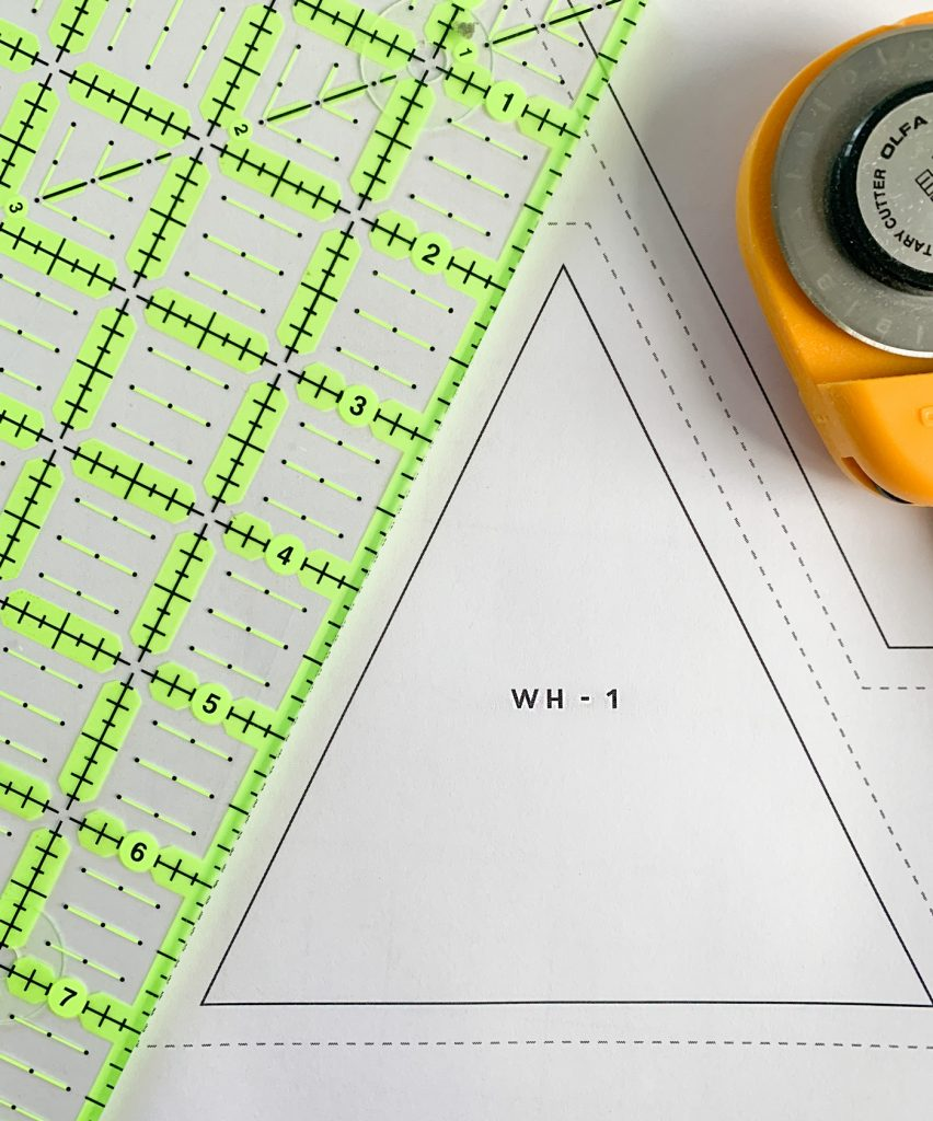 Quilting for beginners - cutting templates