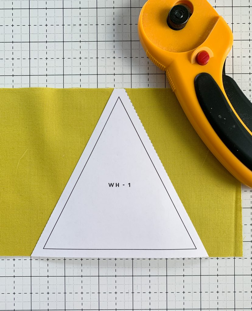Quilting for beginners - cutting templates for patterns