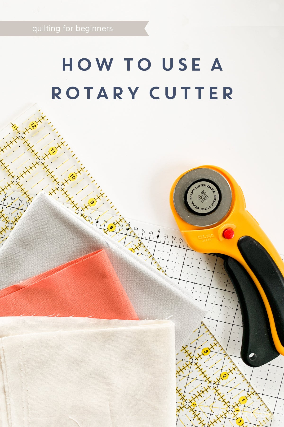 Quilting for Beginners Tutorial - How to use a rotary cutter