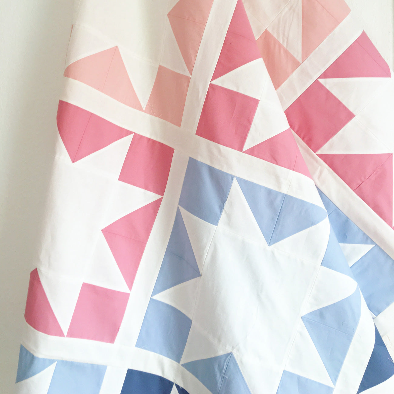 Sawtooth star - easy spring quilt, perfect pattern for beginners