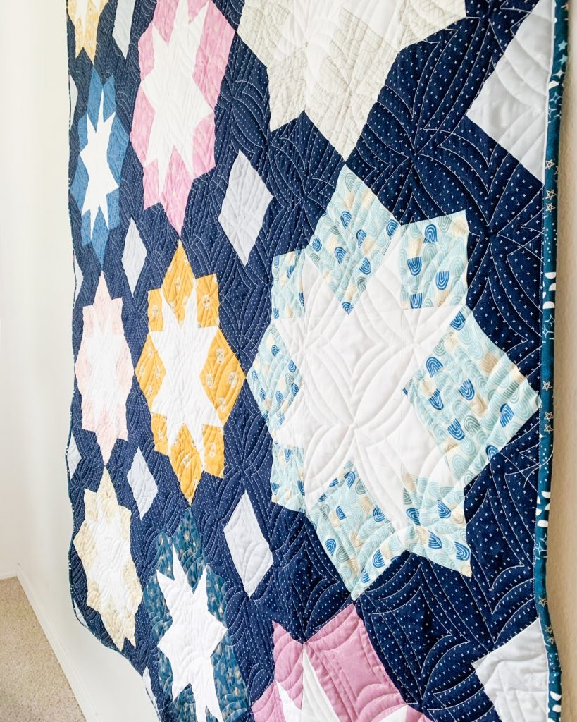 Long arm quilting detail