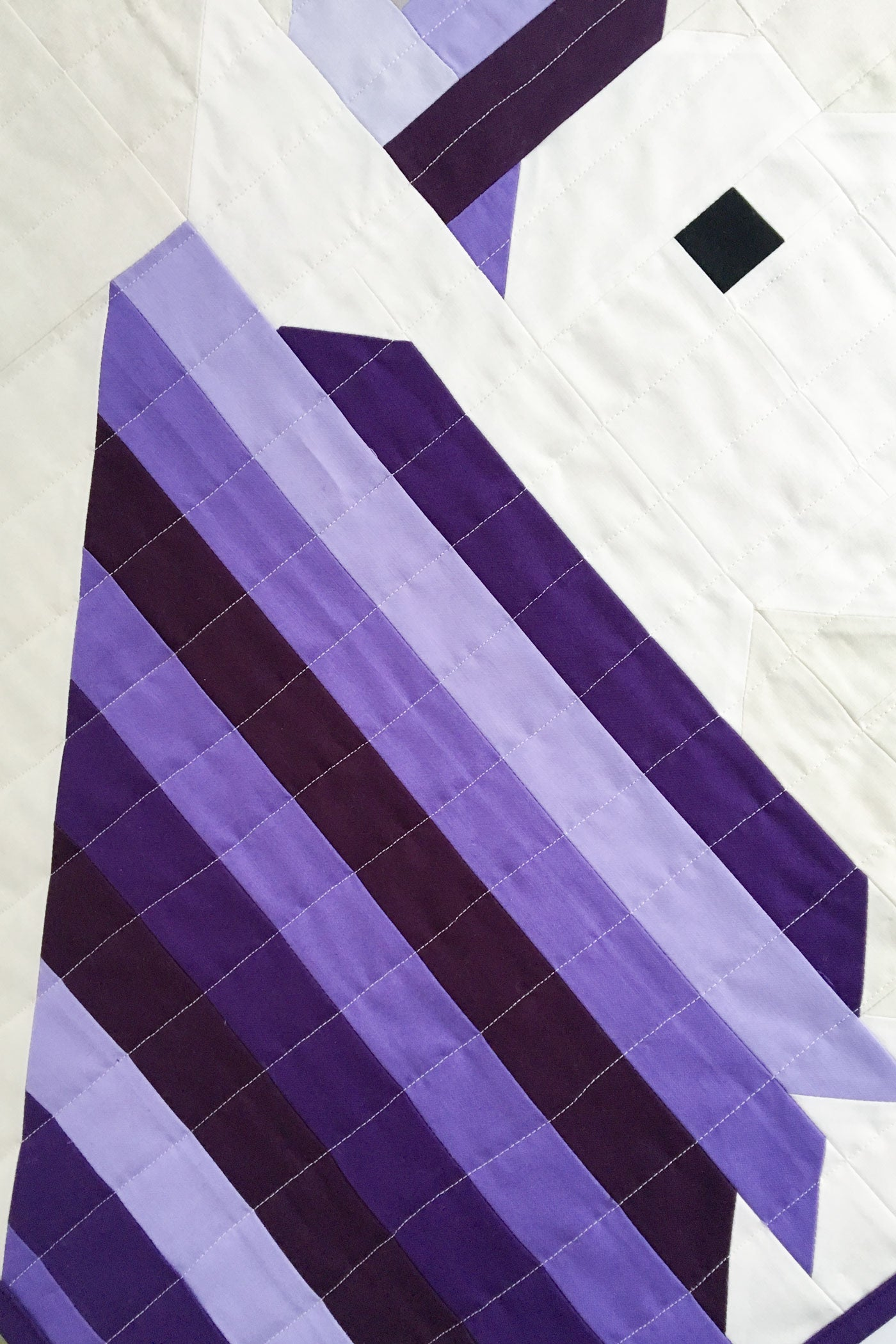 The purple main for the unicorn quilt. Made using Bella Solids cotton