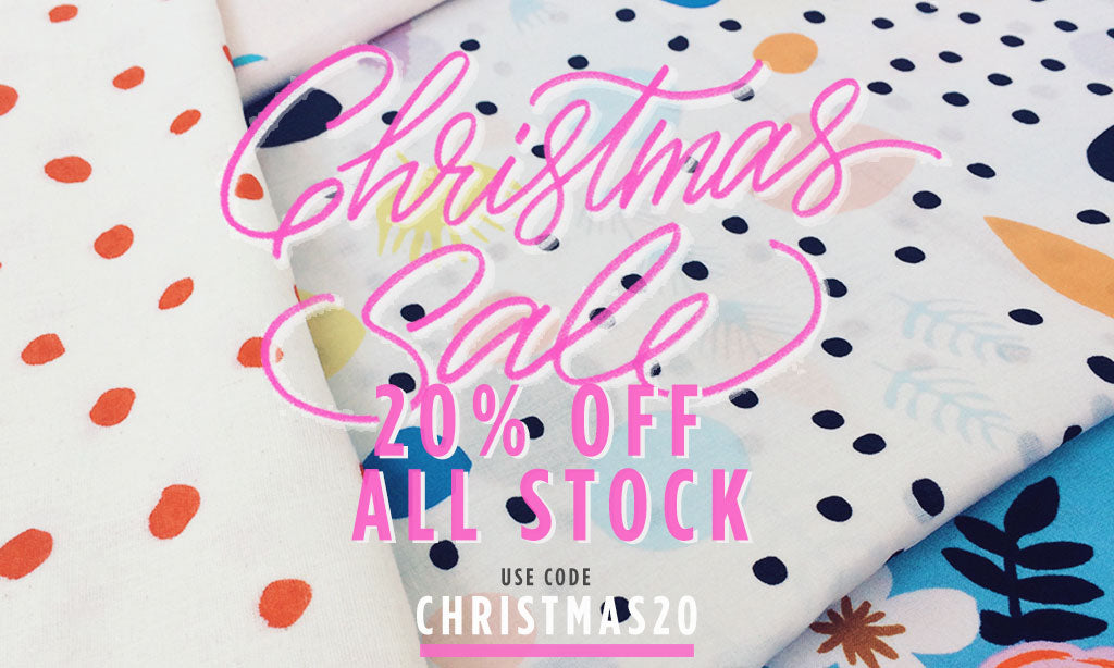 SALE IS ON! GET 20% OFF ALL STOCK