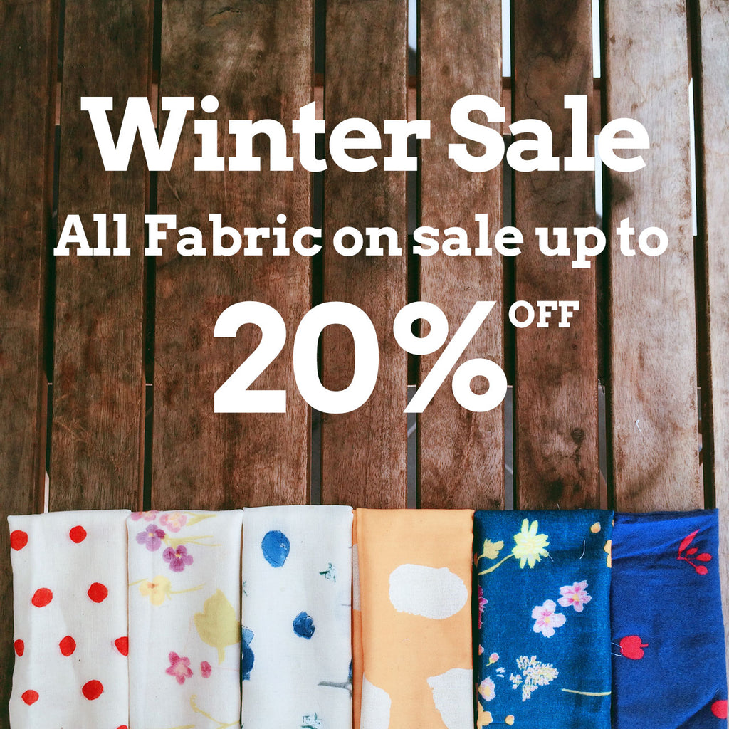 Winter fabric sale is on now at Sewdainty!
