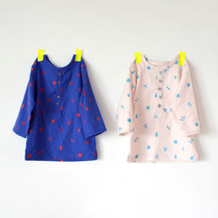 nani IRO 2014 fruity pocho cream and blue cotton flannel
