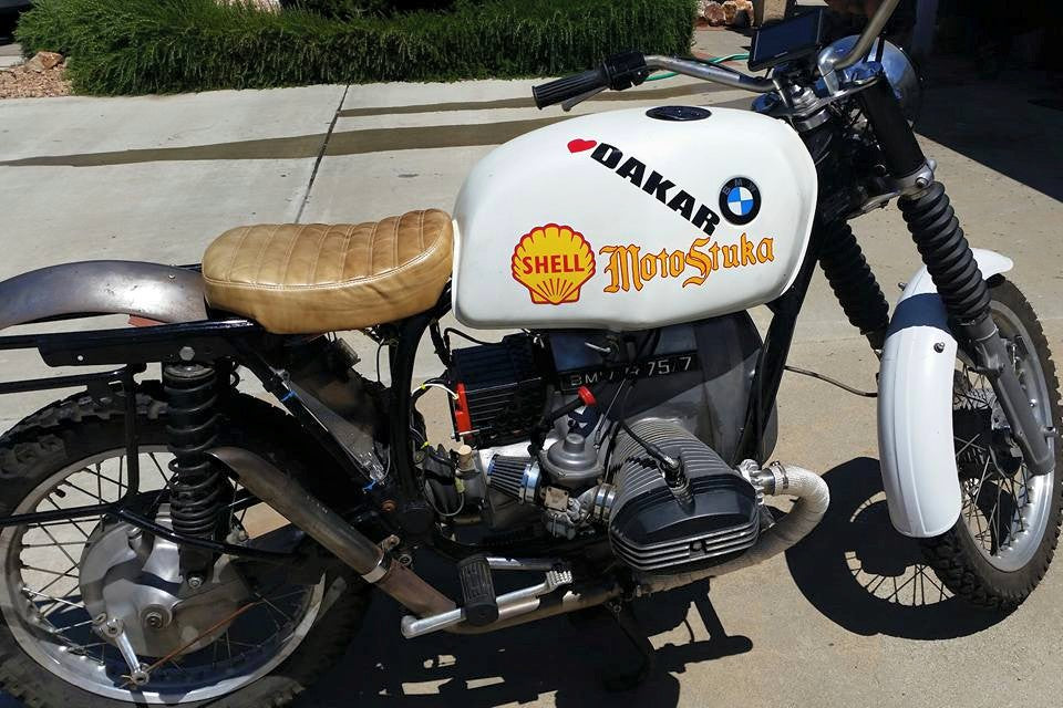 Rob's Dakar Rally inspired Vintage BMW that he built himself.