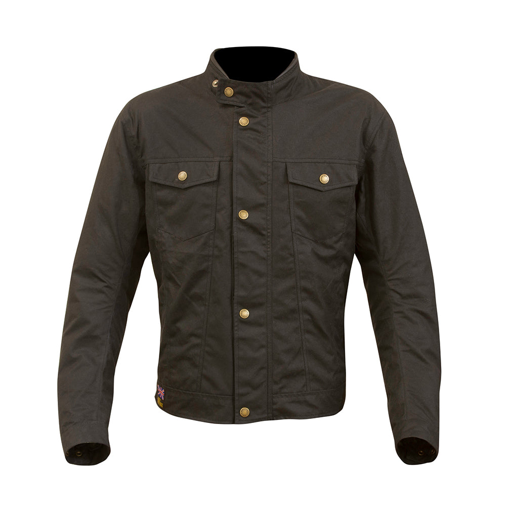 Anson Wax Cotton Jacket Black