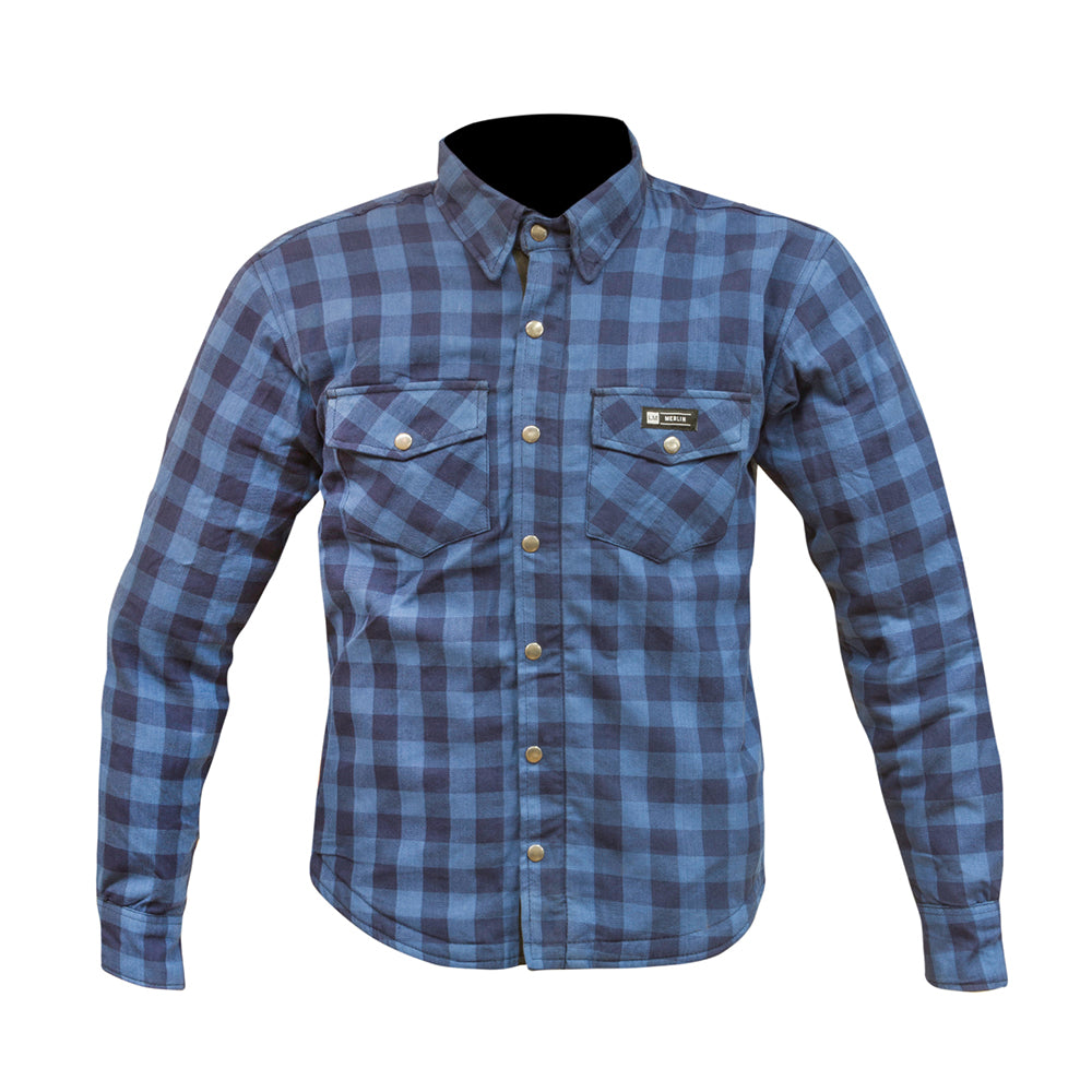 Axe Zip Up Shirt Blue