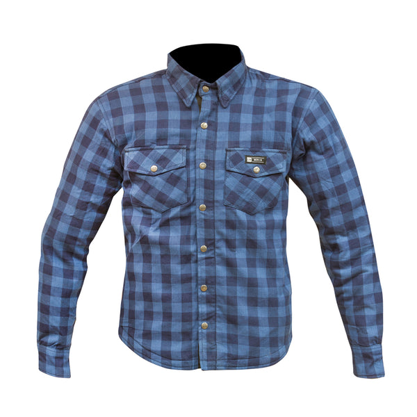 Axe Zip Up Shirt 100% kevlar Blue