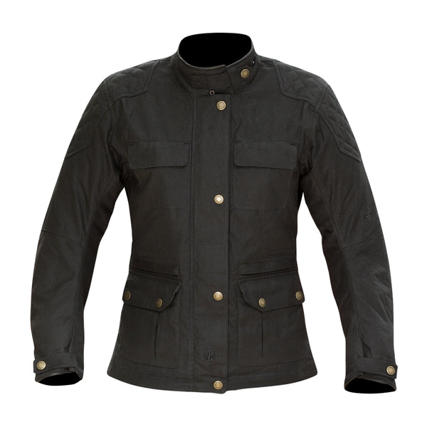 Buxton Ladies Wax Cotton Jacket Black