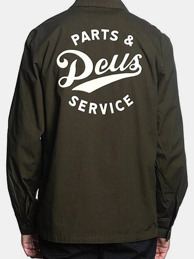 Sweats & Hoods - Deus Gerber Ripstop Shirt - Forest Green