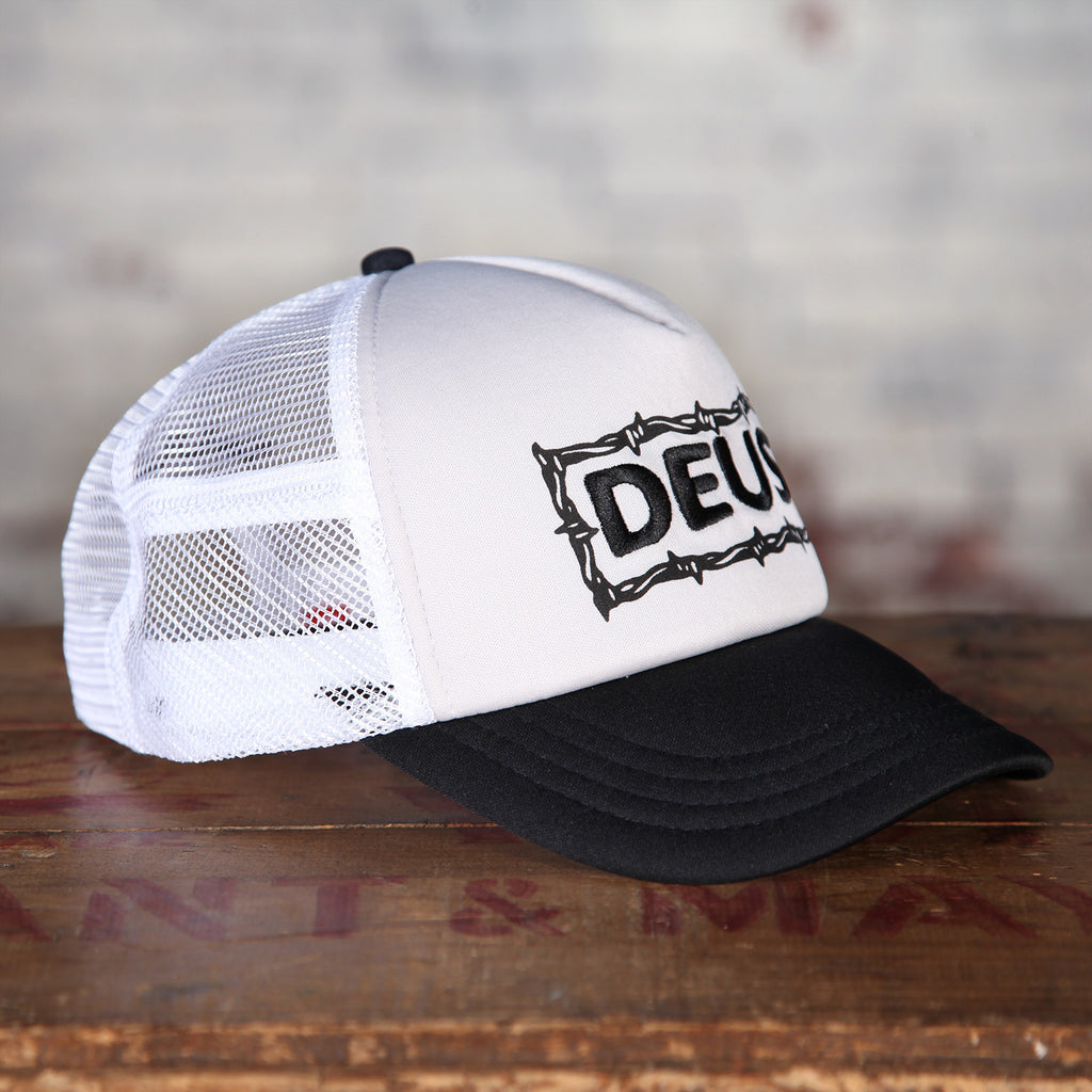 Deus Barbed Trucker Hat Grey