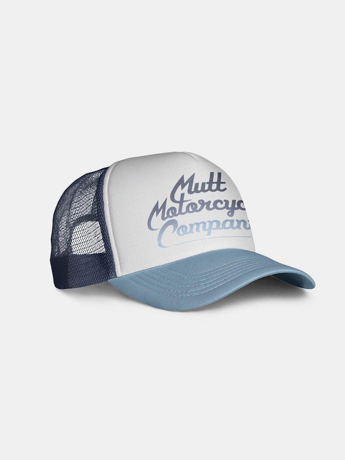 Caps & Hats - Mutt Custom Script Cap - Navy/Sky/White