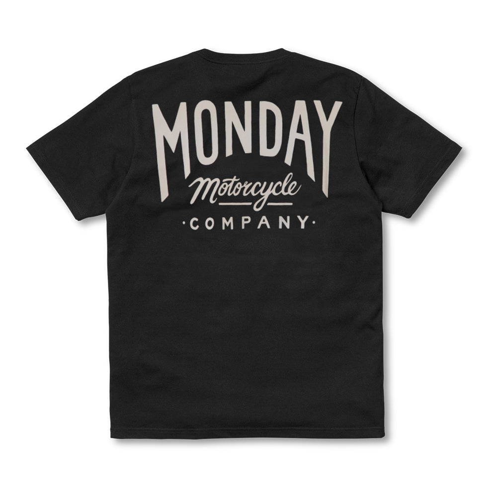 Monday Script T Shirt Black