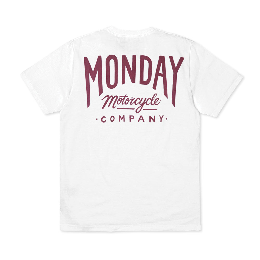 Monday Script T Shirt White