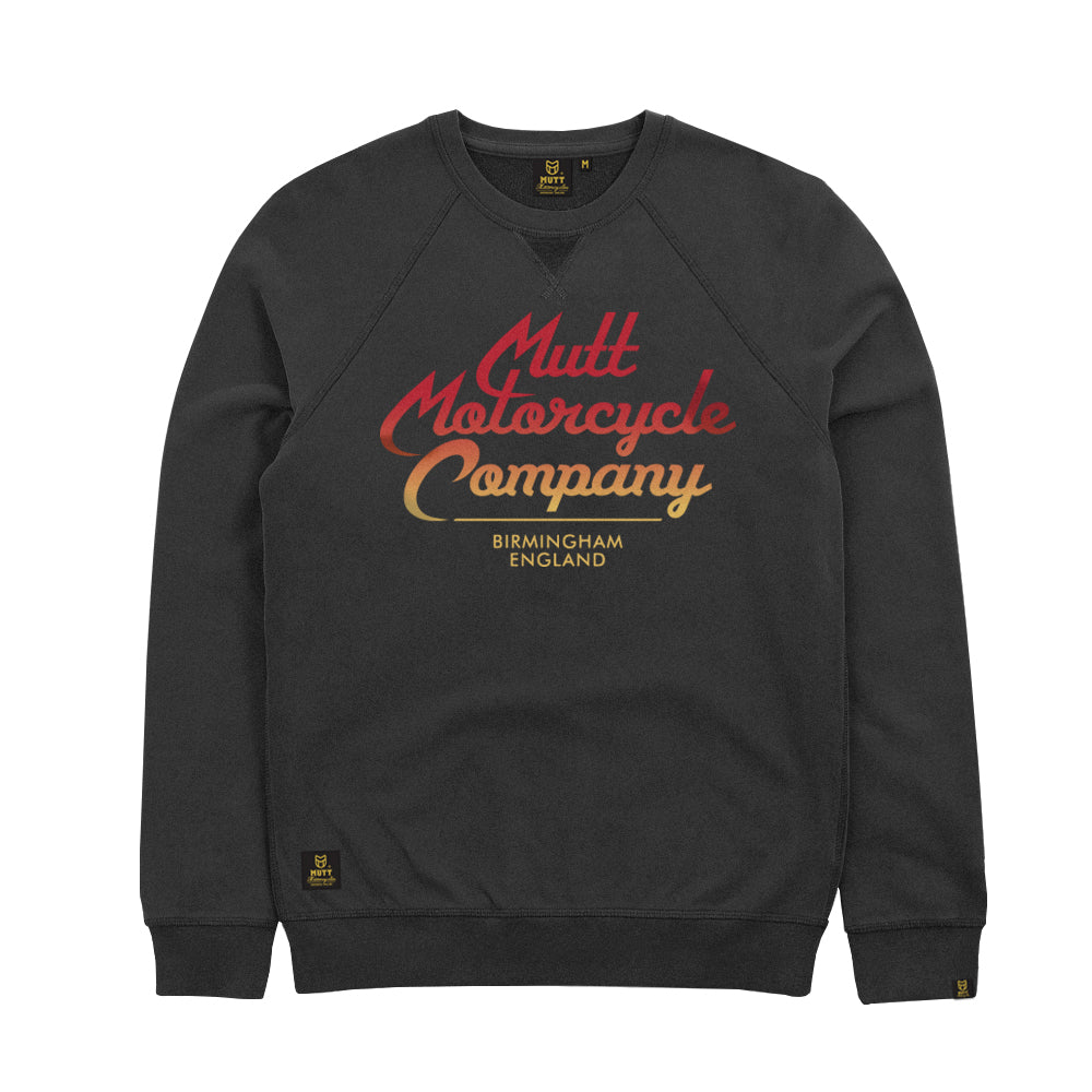 Mutt Custom Script Crew Sweat Anthracite