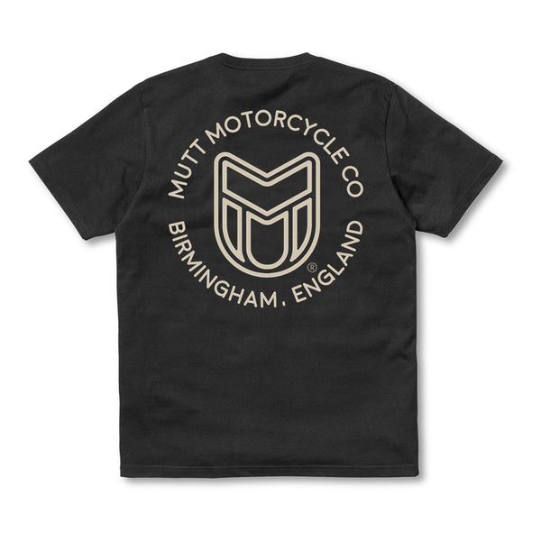 Mutt Icon Mono T Shirt Black
