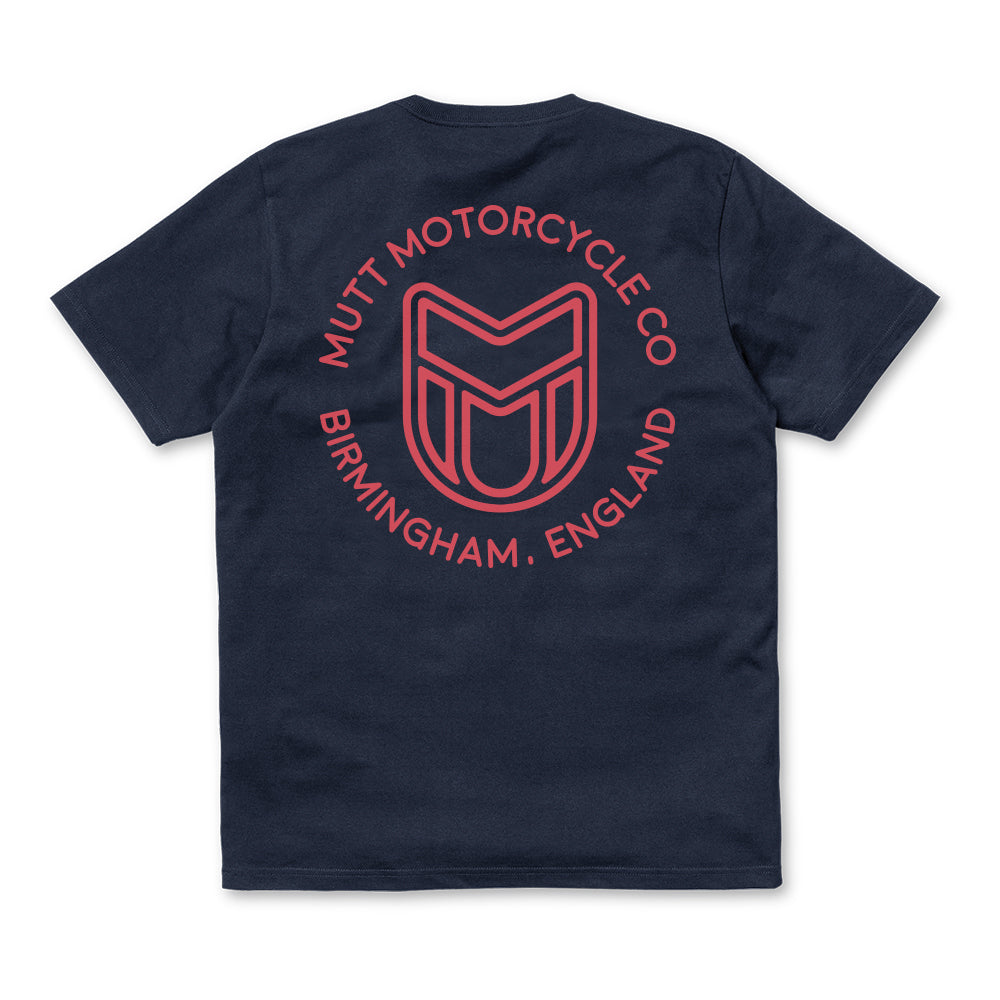Mutt Icon Mono T Shirt Navy