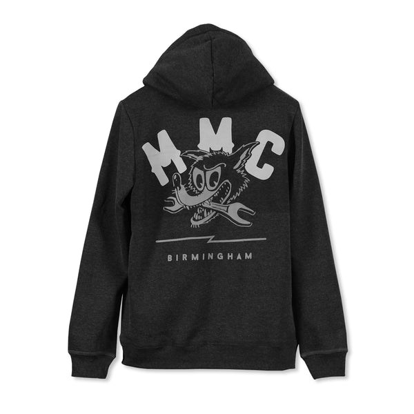 Mutt Spanner Zip Hood Sweat Anthracite