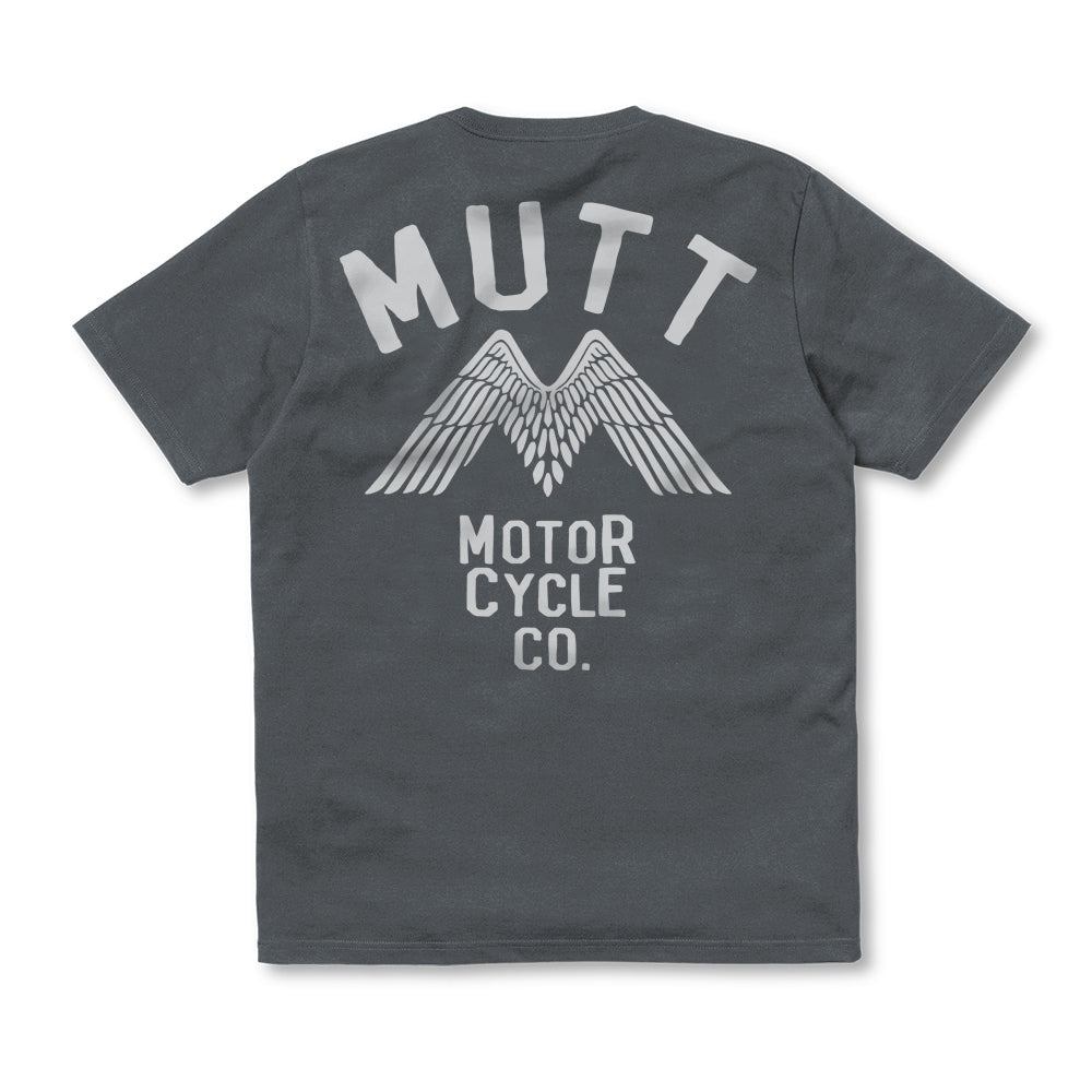 New Mutt Wings T-Shirt Grey
