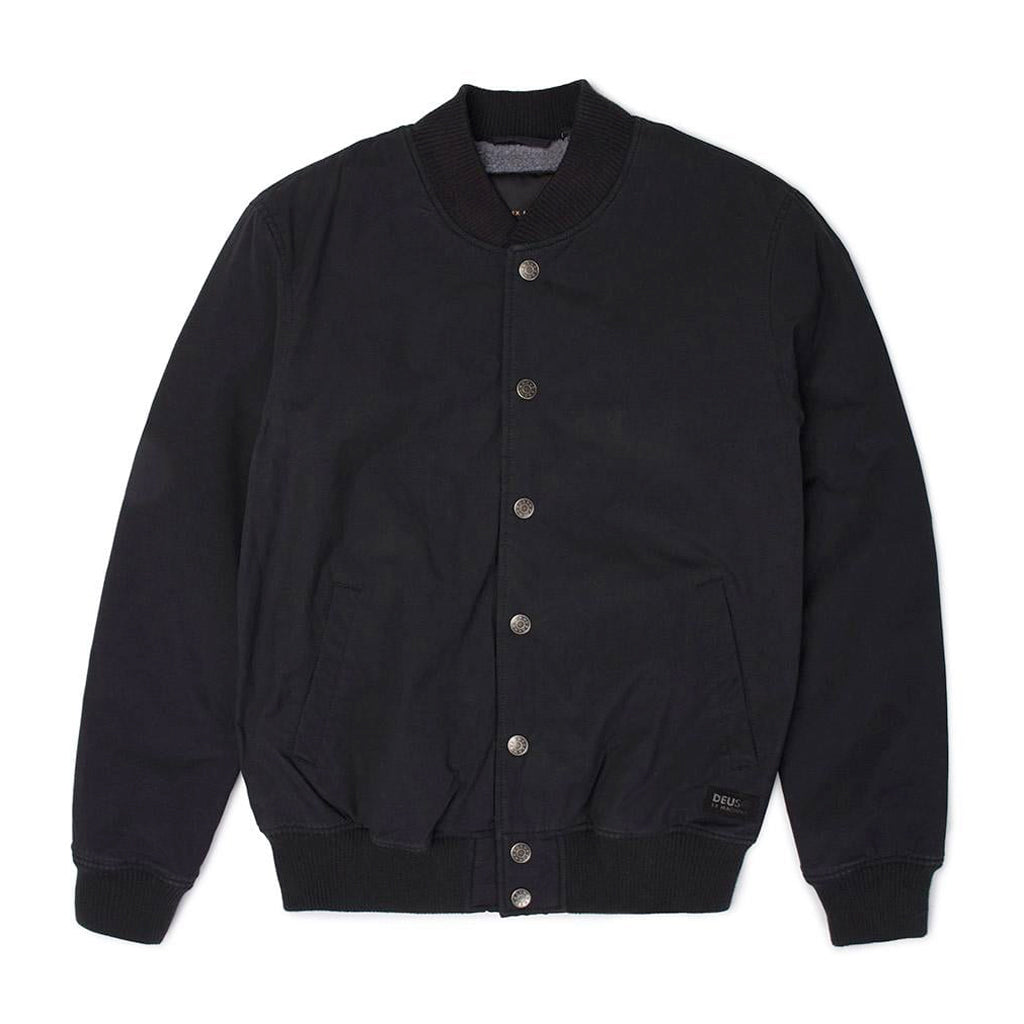 Deus Chuck Fleece Bomber Jacket Black