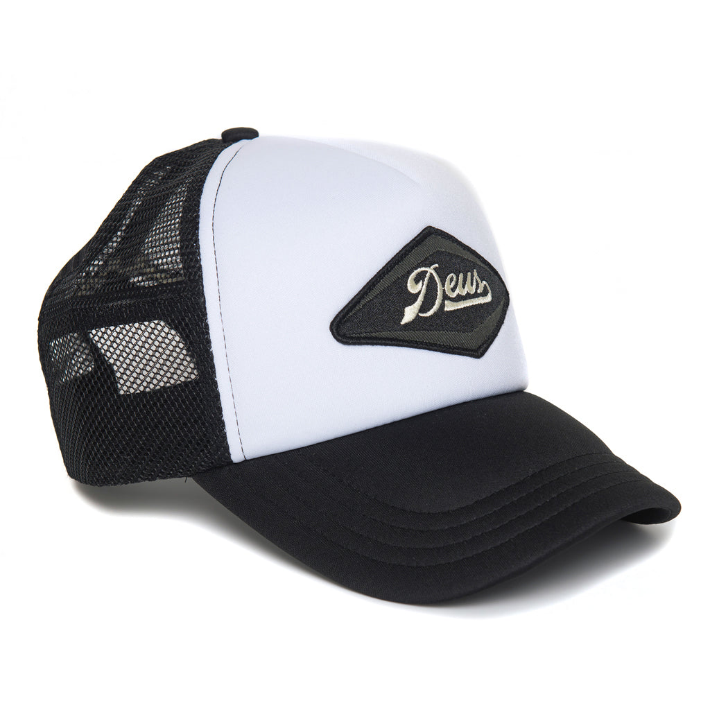Deus Diamond Trucker Cap - Black & White