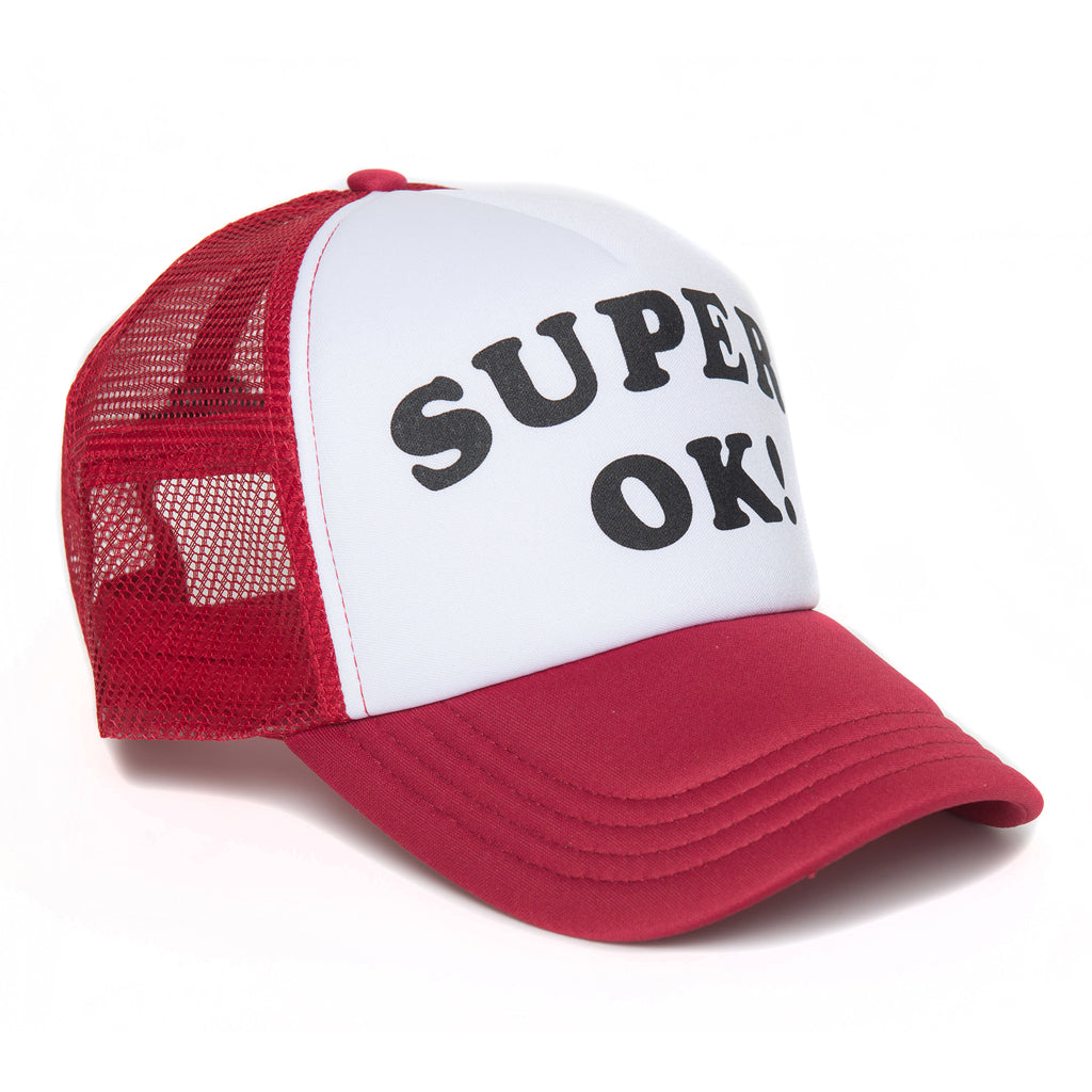 Deus Super Ok Trucker - White & Red