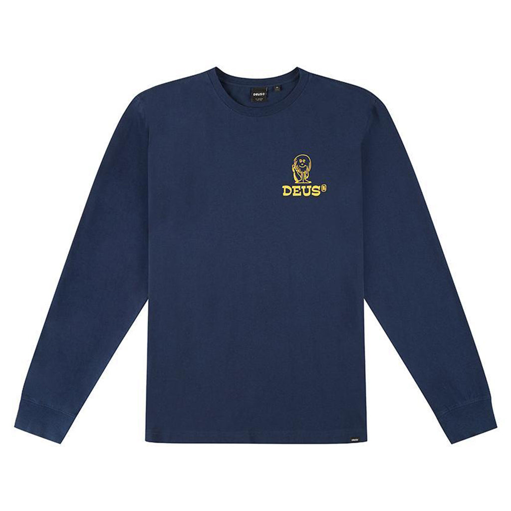 Deus Wreckers L/S T-Shirt Navy