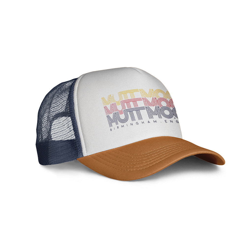 Mutt Cali Cap White Orange/Navy/White