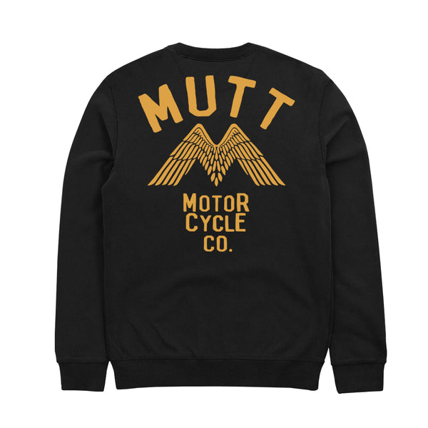 New Mutt Wings Crew Sweat Black