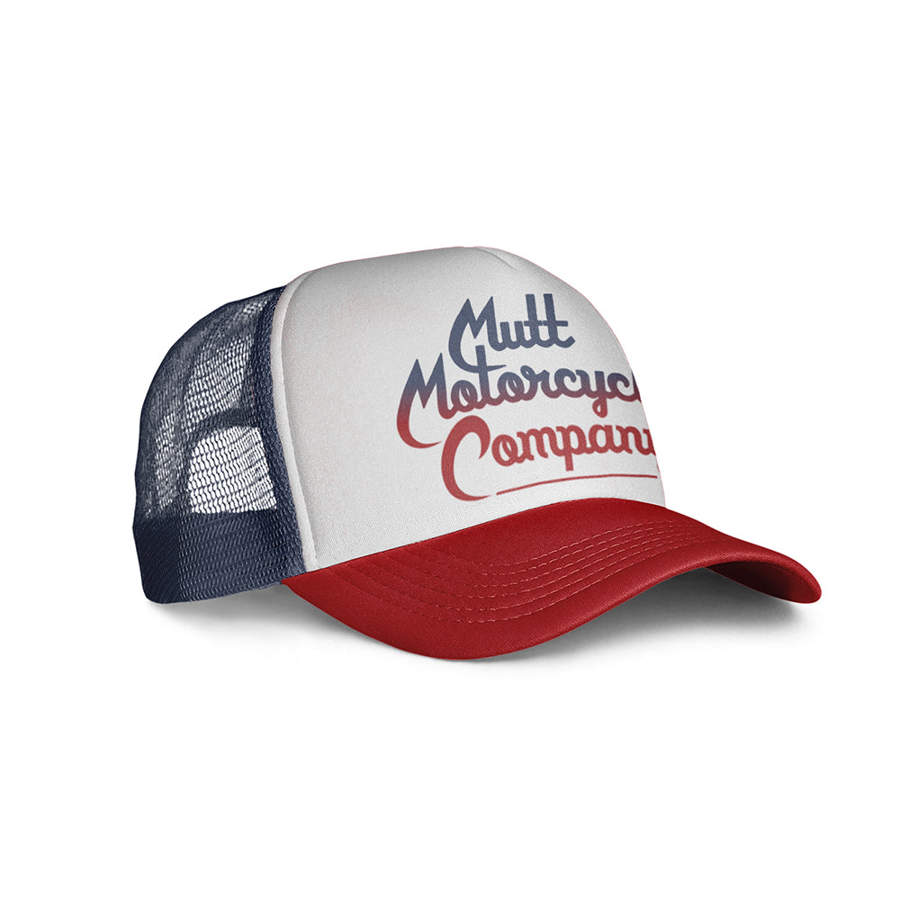 Mutt Custom Script Cap Navy/Red/White