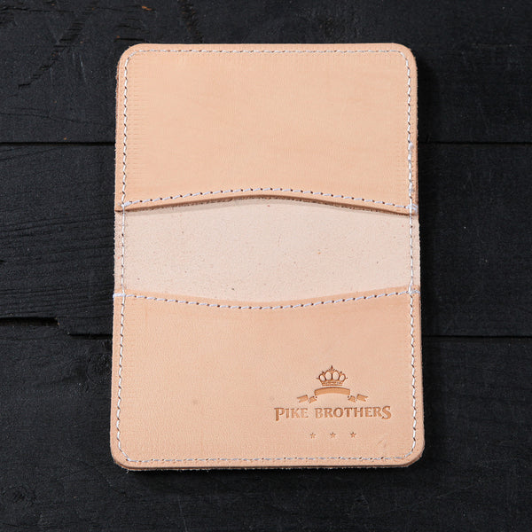 Pike Bros 1965 Leather Cardholder Natural