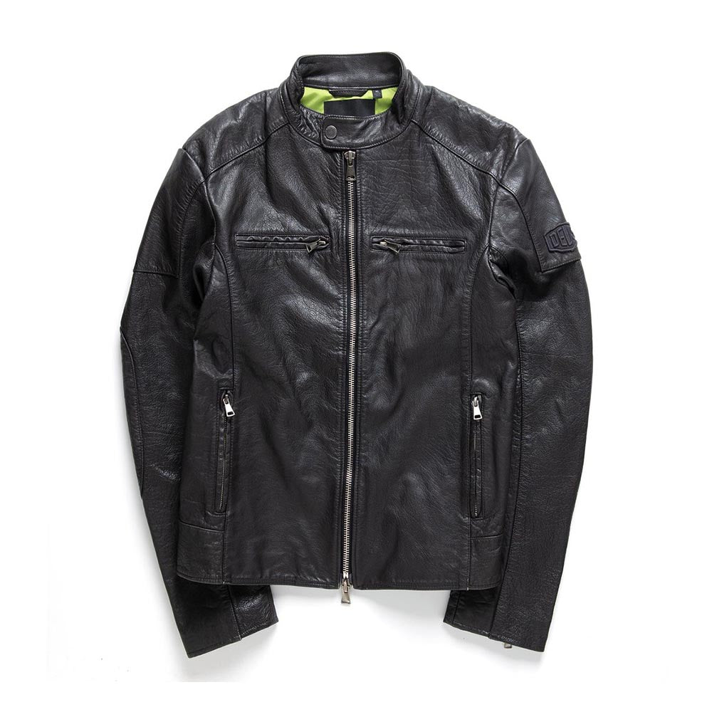 Deus Springer Leather Jacket Black