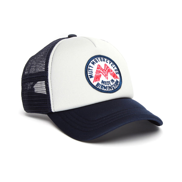 Mutt Wings Cap - Navy/Grey/Red