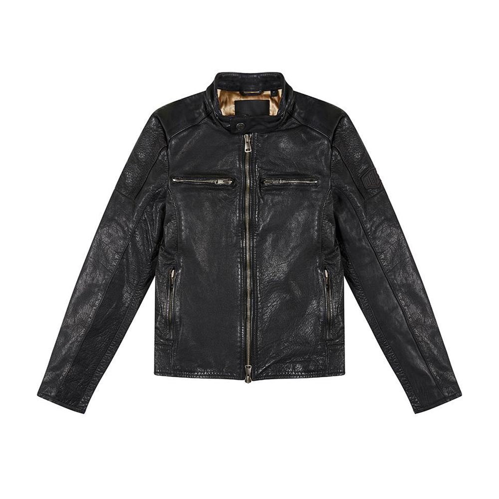 Deus Damager Leather Jacket Black