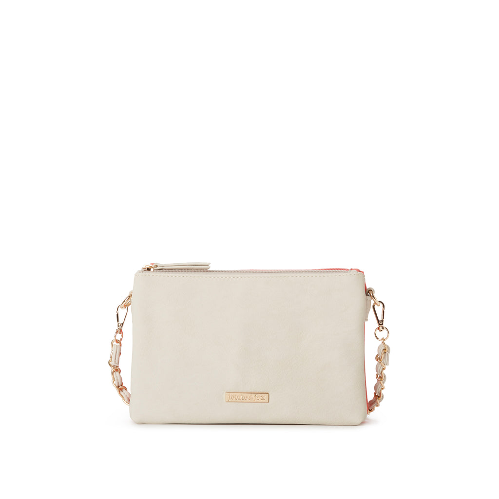 LIZ 2-tone Double Pocket Crossbody