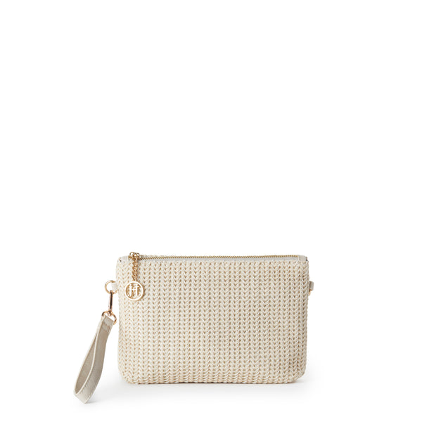 KYLIE Chevron Weave Crossbody Clutch