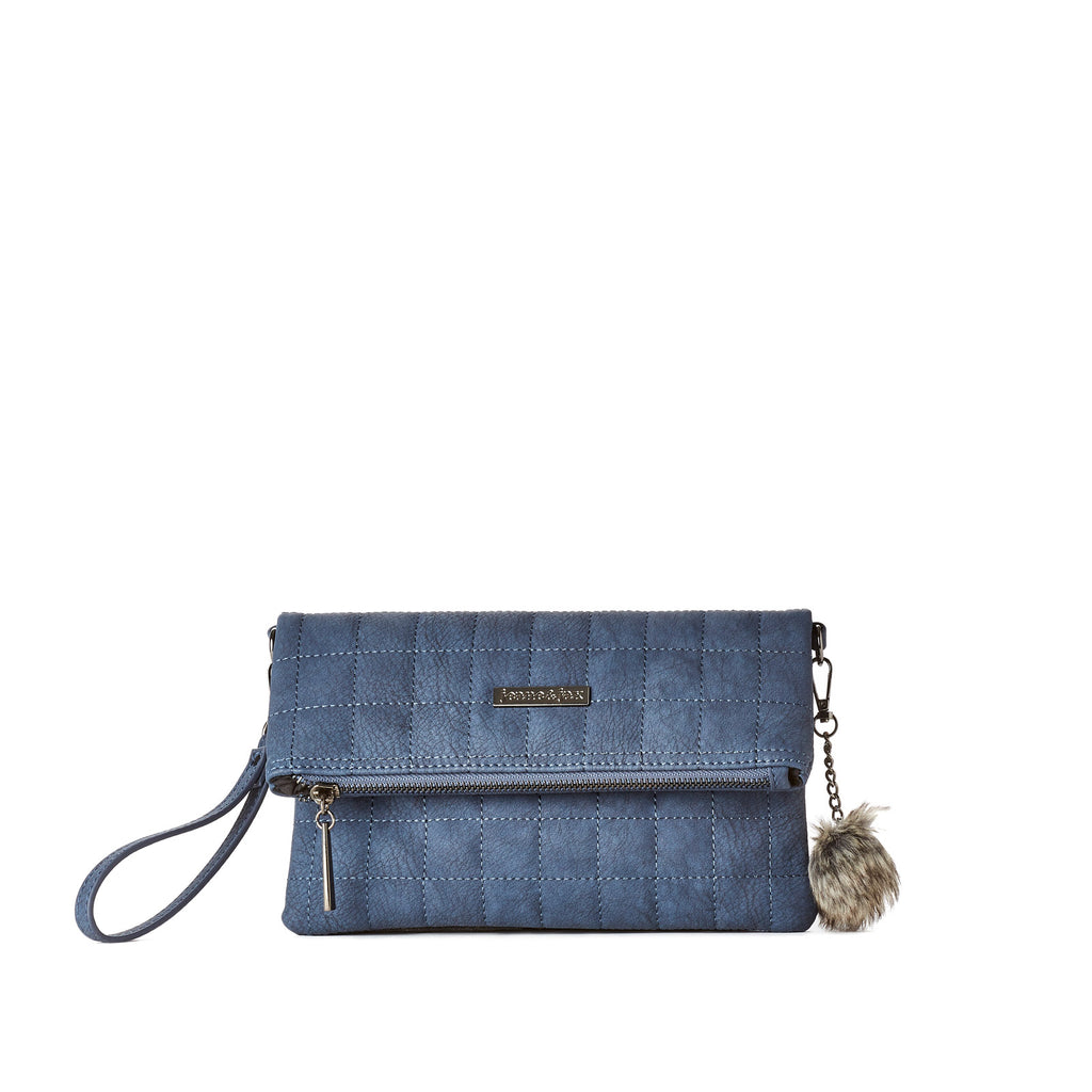 Quilted Foldover Clutch - Vegan Leather