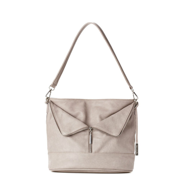 Zip Fold Hobo Bag - Vegan Leather