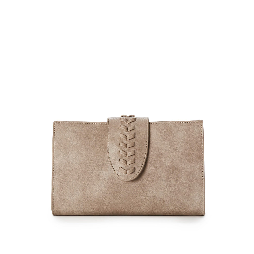 CAROLINE Clutch Bag w Braid Detail