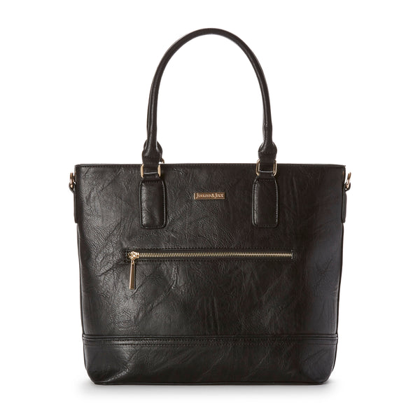 97e973e02d95 Vegan Leather Front Zip Tote Bag