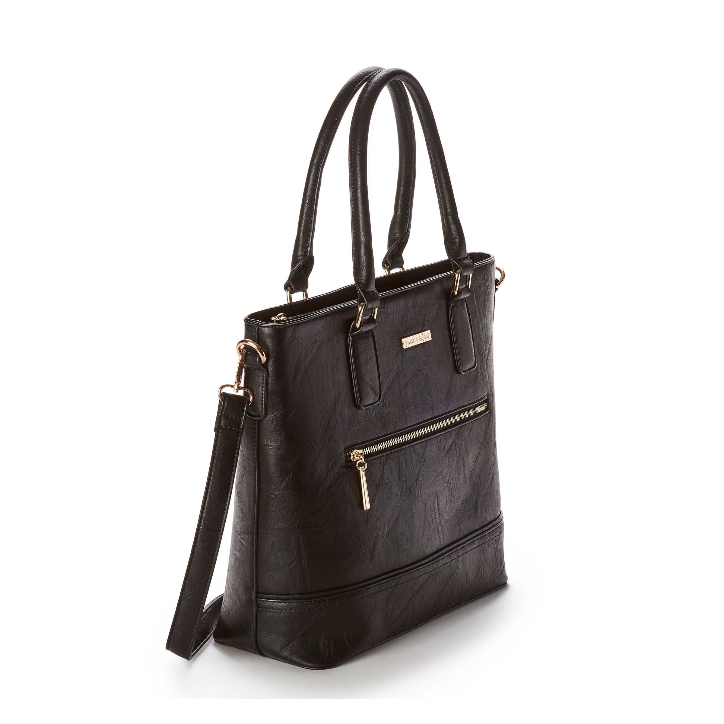 6e6e57c0890 Vegan Leather Front Zip Tote Bag | jeane & jax