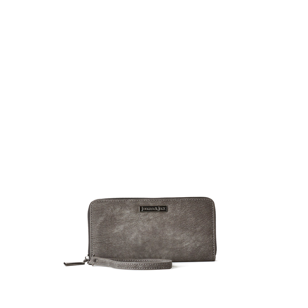 Zip-Around Wristlet Wallet - Vegan Leather