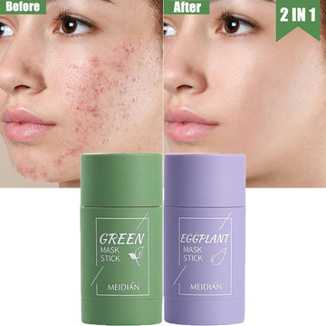 Green Tea Mask Stick Cleansing Face Clean Mask Mud Whitening Moisturizing Purifying Face Masks Clay Stick Oil Control Skin Care